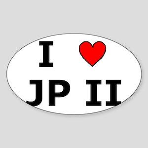 I Love JPII Oval Sticker