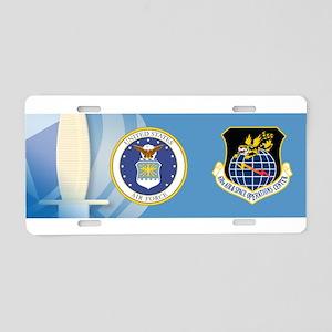 614th AOC Aluminum License Plate