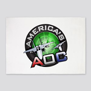 AOC Logo 5'x7'Area Rug