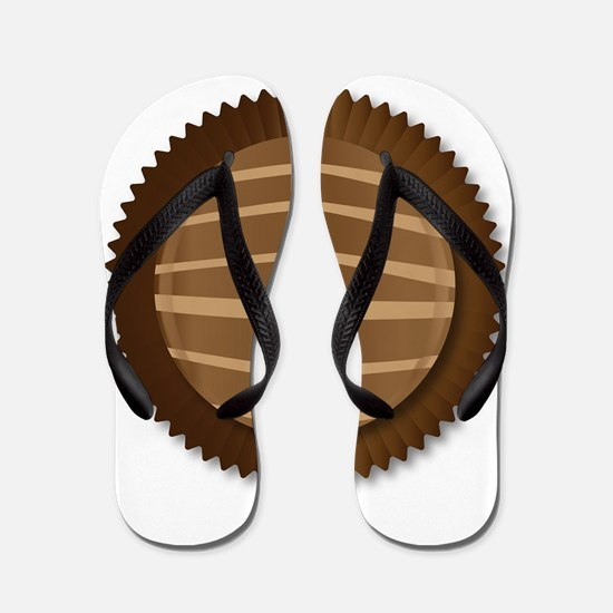 Chocolate Box Selection Flip Flops