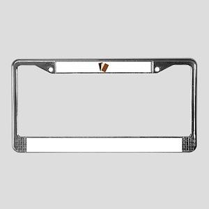 White Chocolate Bar License Plate Frame