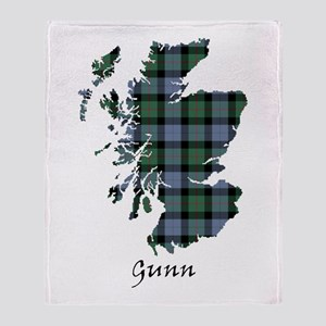 Map - Gunn Throw Blanket