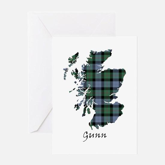 Map - Gunn Greeting Card