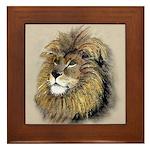 Arthur The Lion Framed Tile