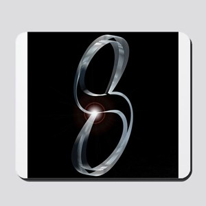 Silver Number Eight Mousepad