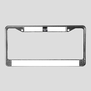 Fine Silver Thread License Plate Frame
