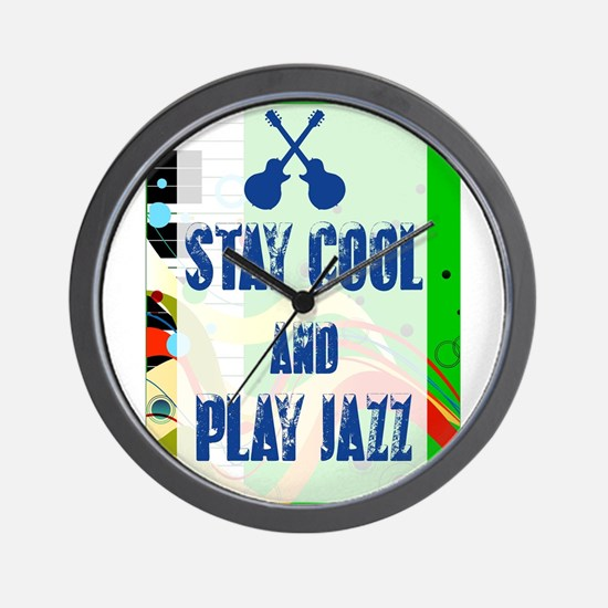 Stay Cool Play Jazz Wall Clock