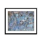 Serenade In Blue Framed Panel Print