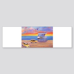 Redondo Beach Lifeguard Tower Bumper Sticker