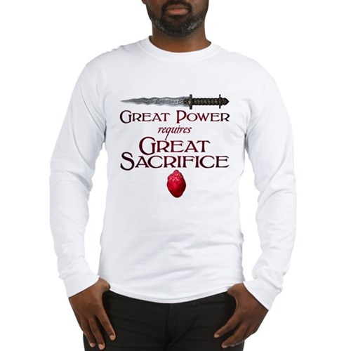 Great Power Requires Great Sac Long Sleeve T-Shirt