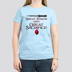 Great Power Requires Great S Women's Light T-Shirt