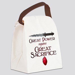 Great Power Requires Great Sacrif Canvas Lunch Bag