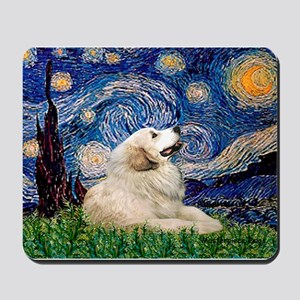 Starry / Gr Pyrenees Mousepad