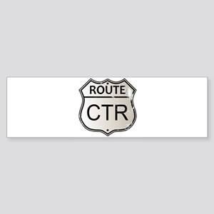 CTR Highway Sign Bumper Sticker