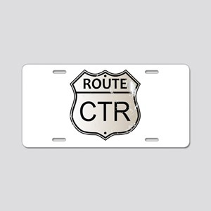 CTR Highway Sign Aluminum License Plate