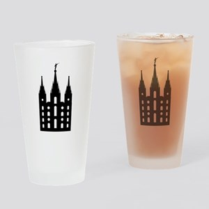 Mormon Style Temple Drinking Glass