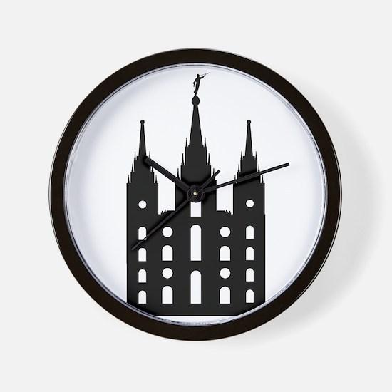 Mormon Style Temple Wall Clock