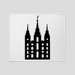 Mormon Style Temple Throw Blanket