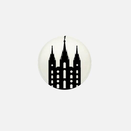 Mormon Style Temple Mini Button