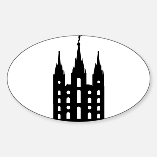 Mormon Style Temple Decal