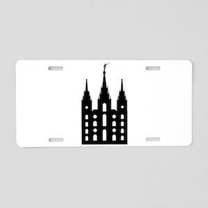 Mormon Style Temple Aluminum License Plate
