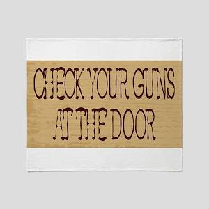 Check Your Guns Throw Blanket