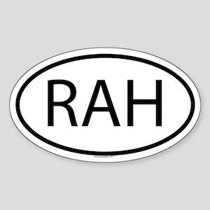 RAH Oval Sticker