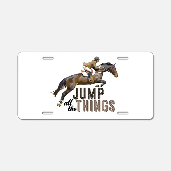 Unique Eventing Aluminum License Plate