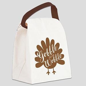 Gobble Wobble Turkey Canvas Lunch Bag