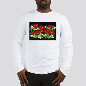 Poppies by Moonlight Long Sleeve T-Shirt