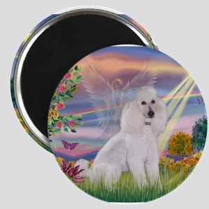 Cloud Angel White Poodle Magnets