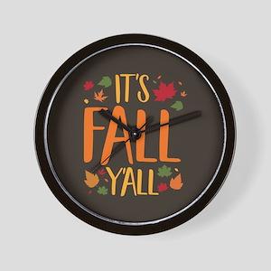 Its Fall Yall Wall Clock