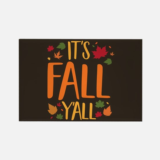 Its Fall Yall Rectangle Magnet