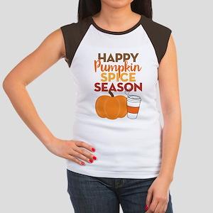 Pumpkin Spice Season Junior's Cap Sleeve T-Shirt