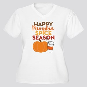 Pumpkin Spice Sea Women's Plus Size V-Neck T-Shirt