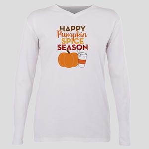 Pumpkin Spice Season Plus Size Long Sleeve Tee