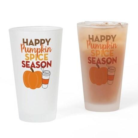 Pumpkin Spice Season Drinking Glass
