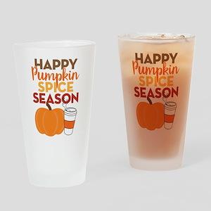 Pumpkin Spice Season Drinking Glass