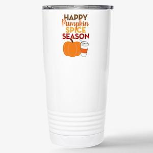 Pumpkin Spice Season Stainless Steel Travel Mug