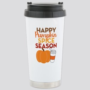 Pumpkin Spice Season Stainless Steel Travel Mug