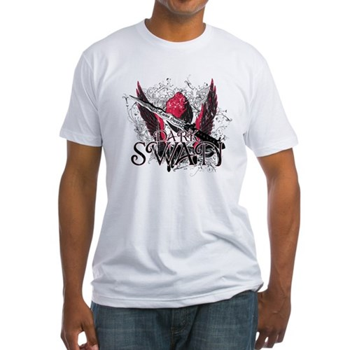 Dark Swan Wings Fitted T-Shirt