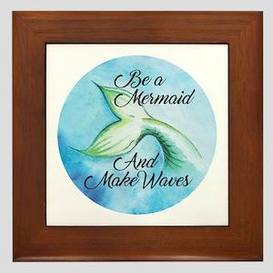 Be A Mermaid Framed Tile