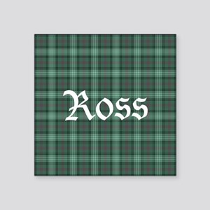 "Tartan - Ross hunting Square Sticker 3"" x 3"""