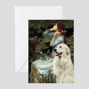 Ophelia / Gr Pyrenees Greeting Card