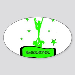 Green Cheerleader Sticker