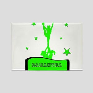 Green Cheerleader Magnets