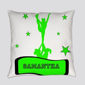 Green Cheerleader Everyday Pillow