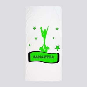 Green Cheerleader Beach Towel