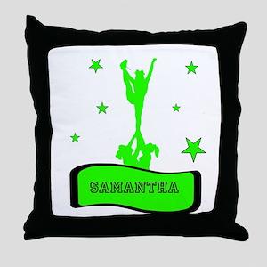 Green Cheerleader Throw Pillow