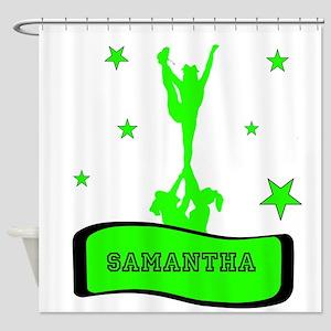 Green Cheerleader Shower Curtain